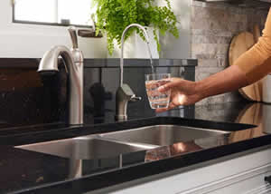 Drinking from Culligan Reverse Osmosis